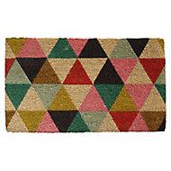 Colours Lami Geometric Multicolour Coir Door mat (L)0.75m (W)0.45m