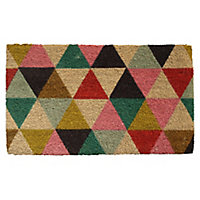 Colours Lami Geometric Multicolour Coir Door mat (L)0.75m (W)0.45m