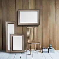 Colours Laverna Brown Rectangular Framed Mirror (H)1070mm (W)760mm