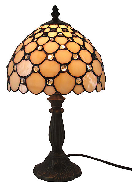 Colours Layla Antique Amber Effect Halogen Table Lamp Diy At B Q