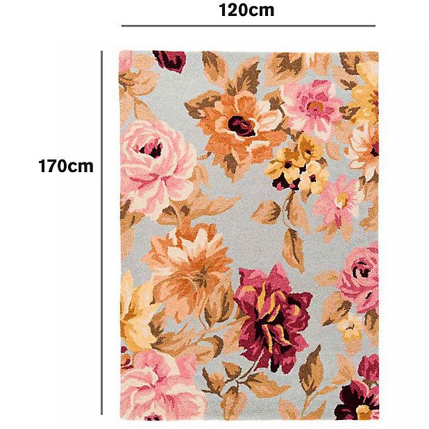 Colours Lorilie Floral Multicolour Rug L 1 7m W 1 2m Diy At B Q