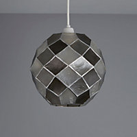 Colours Maringa Capiz grey Diamond Light shade (D)225mm