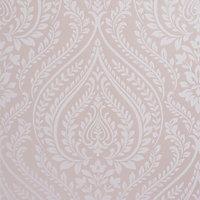 Colours Maya Blush Damask Mica effect Smooth Wallpaper