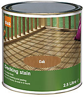 Colours Medium oak Matt Decking Wood stain, 2.5