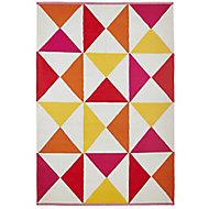 Colours Meghan Geometric Red Rug (L)2.3m (W)1.6m