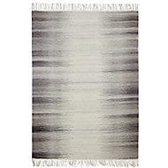 Colours Mindy Striped Grey Rug (L)2.3m (W)1.6m