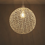 Colours Missoula White Wire Light shade (D)300mm