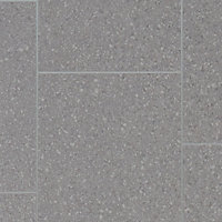 Colours Monzen Grey Tile effect Vinyl flooring, 4m²