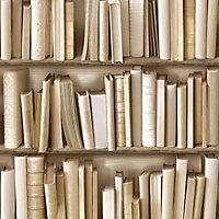 Colours Multicolour Bookcase Textured Wallpaper