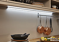 Colours Noona Silver effect Mains-powered LED Under cabinet light IP20 (W)285mm