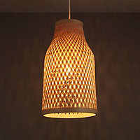 Colours Pianosa Natural Bamboo Light shade (D)230mm