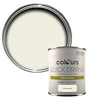 Colours Quick dry Antique white Eggshell Metal & wood paint, 0.75L