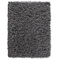Colours Sapphire Plain Grey Rug (L)2.3m (W)1.6m