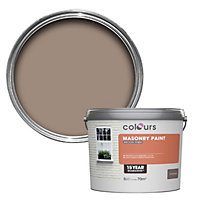 Colours Soft wholemeal brown Smooth Masonry paint 5L