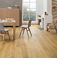 Colours Sotto Oak effect Real wood top layer flooring, 1.37m² Pack