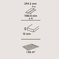 Colours Staccato Natural Oak parquet effect Flooring, 1.86m² Pack