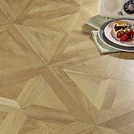 Colours Staccato Natural Oak parquet effect Laminate Flooring, 1.86m² Pack