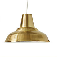 Colours Tezz Brushed Gold effect Light shade (D)290mm