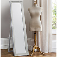 Colours Tibertus White Rectangular Framed Mirror (H)1640mm (W)470mm
