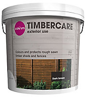 Colours Timbercare Dark brown Fence & shed Wood stain, 9