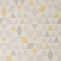 Colours Triangles Soft lemon Geometric Smooth Wallpaper