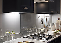 Colours Upha Silver effect Mains-powered LED Under cabinet light IP20 (W)285mm
