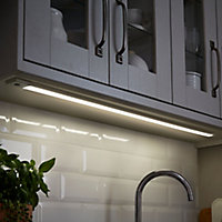 Colours Upha Silver effect Mains-powered LED Under cabinet light IP20 (W)885mm