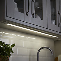 Colours Upha Silver effect Mains-powered LED Under cabinet light IP20