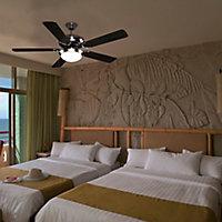 Colours Velva Modern Brushed Chrome effect Ceiling fan light