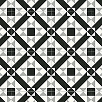 Colours Vinyl rolls Black & grey Mosaic Tile effect Vinyl Flooring, 4m²