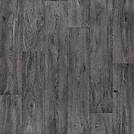 Colours Vinyl rolls Dark grey Wood effect Sheet vinyl, 4m²