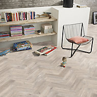 Colours Vinyl rolls Natural Herringbone Wood effect Vinyl Flooring, 6m²