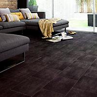 Colours Vinyl rolls Slate Stone effect Vinyl Flooring, 4m²