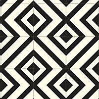 Colours Vinyl rolls White & black Mosaic Tile effect Vinyl Flooring, 6m²