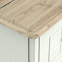 Como Grey oak effect 3 Drawer Bedside chest (H)700mm (W)400mm (D)410mm