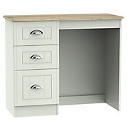 Como Grey oak effect 3 Drawer Dressing table (H)800mm (W)930mm (D)410mm