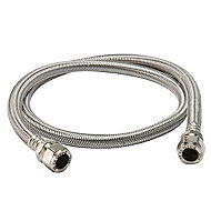Compression Stainless steel Flexible Hose 428801-WNP, (L)1m (Dia)15mm