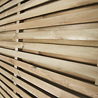 Contemporary Double slatted Fence panel (W)1.8m (H)1.8m, Pack of 4