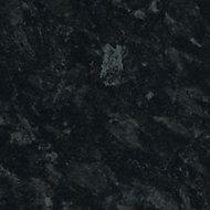 Cooke & Lewis 28mm Gloss Black Stone effect Laminate Round edge Bathroom Worktop, (L)2000mm