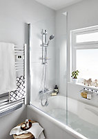 Cooke & Lewis 5-spray pattern Chrome effect Shower riser rail kit
