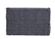 Cooke & Lewis Abava Anthracite Polyester Slip resistant Bath mat (L)800mm (W)500mm