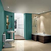 Cooke & Lewis Adelphi Acrylic Left-handed L-shaped Shower Bath (L)1675mm (W)850mm