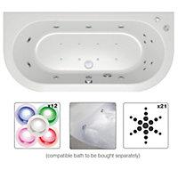 Cooke & Lewis Adelphi Shower Bath, panel & wellness system set, (L)1675mm (W)850mm