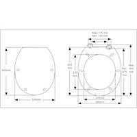 Cooke & Lewis Andrano Multicolour Standard close Toilet seat