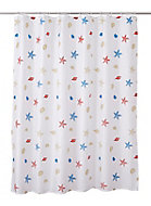 Cooke & Lewis Andrano Multicolour Starfish Shower curtain (L)1800mm