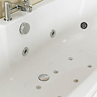 Cooke & Lewis Arezzo Reversible Acrylic Straight Bath & wellness system set, (L)1700mm (W)750mm