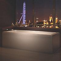 Cooke & Lewis Arezzo Supercast acrylic Rectangular Straight Bath (L)1700mm (W)750mm