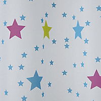 Cooke & Lewis Bhama Multicolour Star Shower curtain (L)1800mm