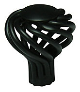 Cooke & Lewis Black Steel T-shaped Cage Cabinet Knob (Dia)32mm
