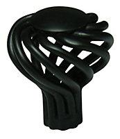Cooke & Lewis Black Steel T-shaped Cage Cabinet Knob (Dia)32mm